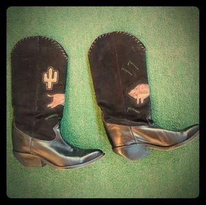 Zodiac Leather Dancing Cowboy Boots. Size 7